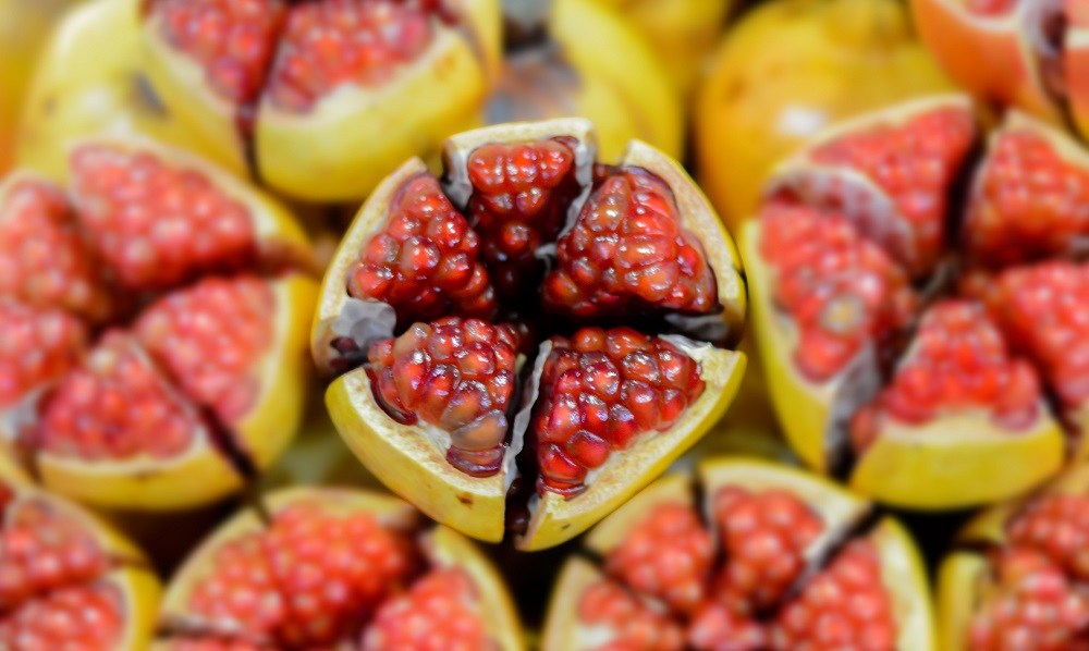 cored pomegranate